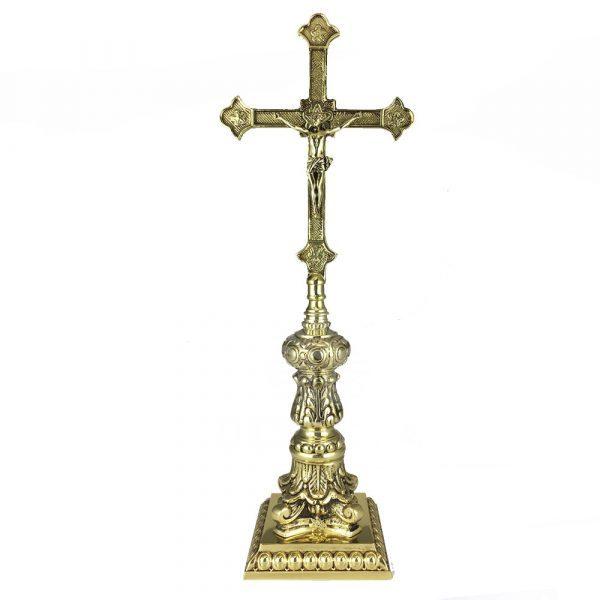 cruz de altar de bronce