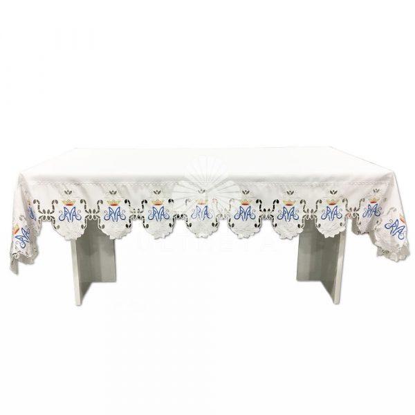 mantel de altar mariano