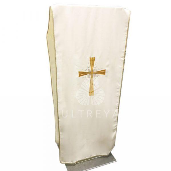 paño de atril blanco bordado