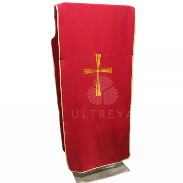paño de atril rojo bordado