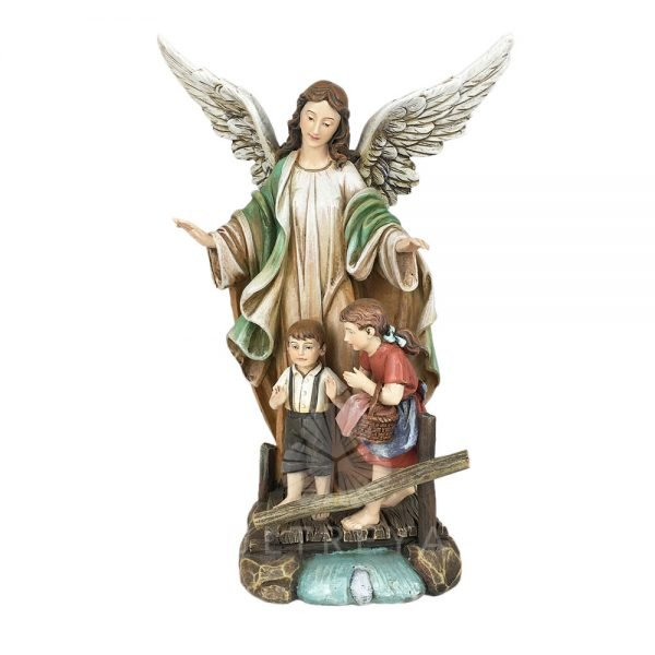 angel de la guarda pasta de madera