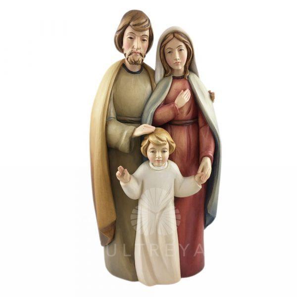 sagrada familia talla de madera