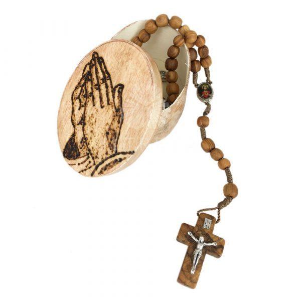 rosario madera de olivo