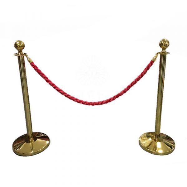 postes y cuerda