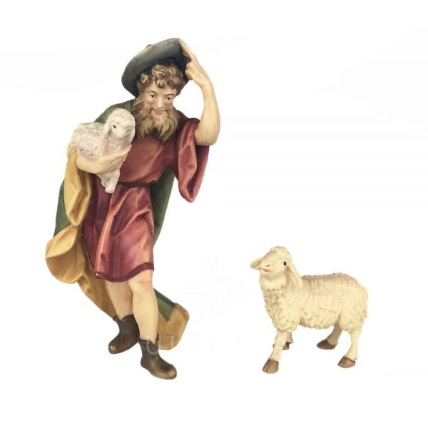 pastor con ovejas