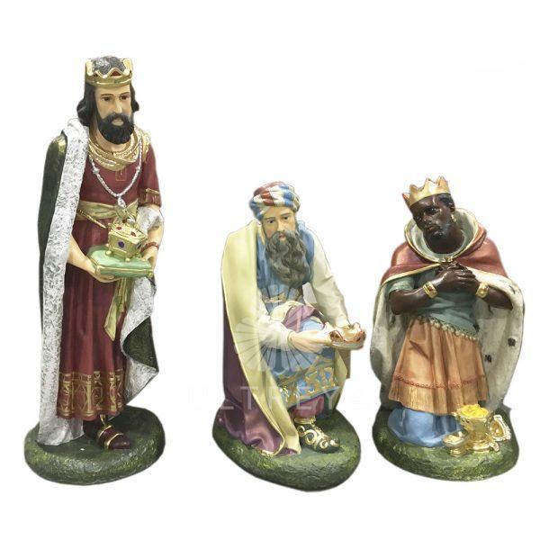 reyes magos en fibra de vidrio
