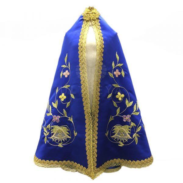manto de raso azul