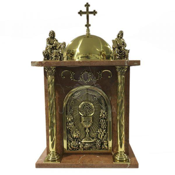sagrario de marmol rojo bronce