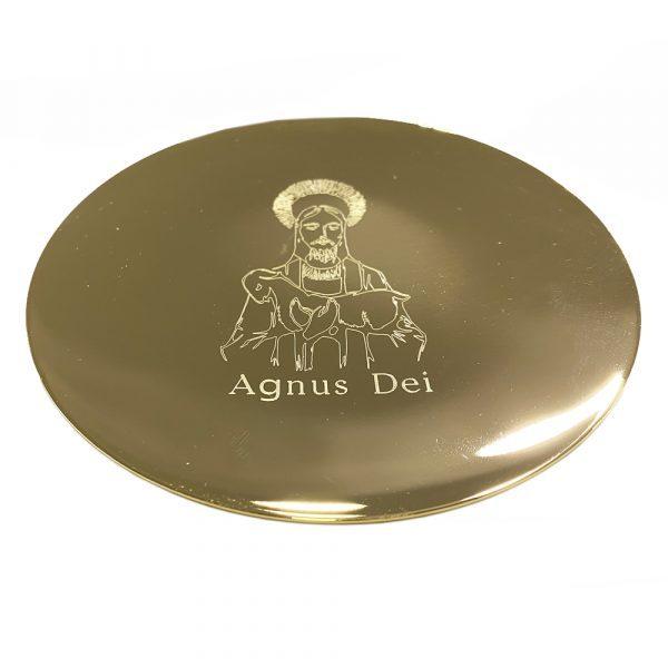 patena dorada Agnus Dei