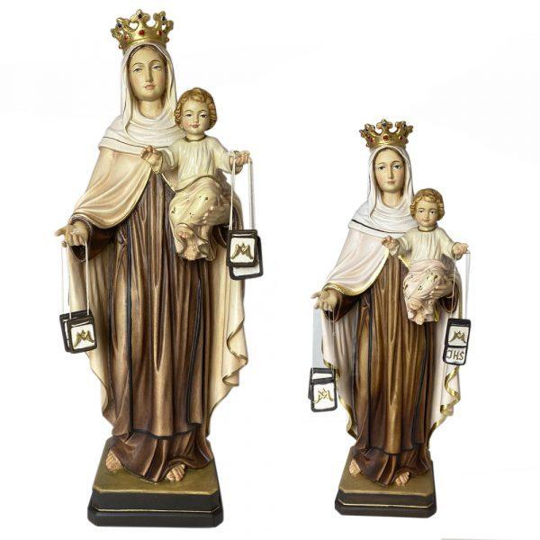 virgen del carmen talla de madera