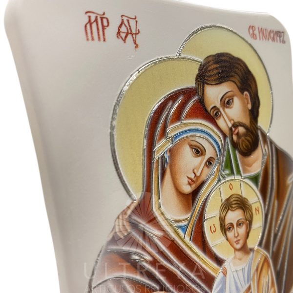 icono sagrada familia blanco